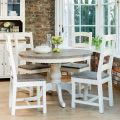 Casa Cotswold Circular Table & 4 Wooden Chairs Dining Set
