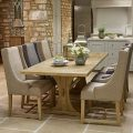Old Charm Lichfield 6ft Extending Table & 6 Upholstered Chairs Dining Set