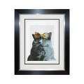 Complete Colour Framed Print, Chic Cat